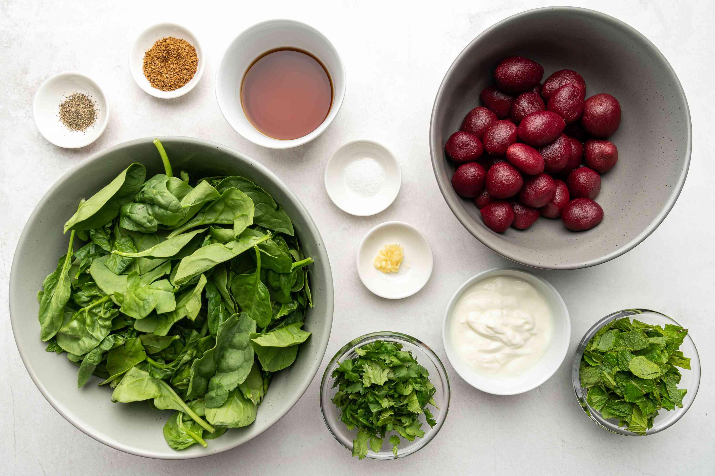 Moroccan Beetroot Salad With Yogurt Dressing ingredients