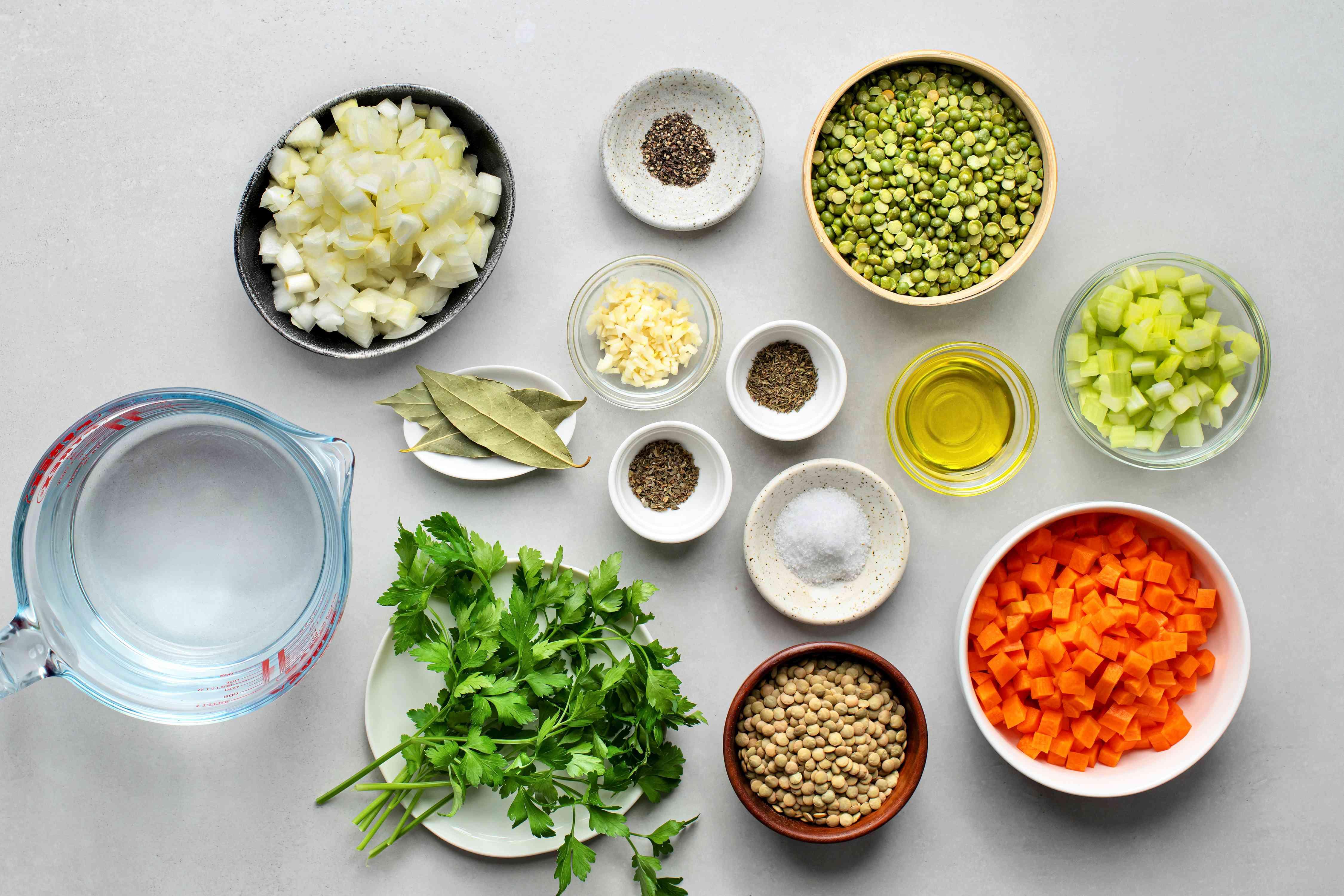 Split Pea Lentil Soup ingredients