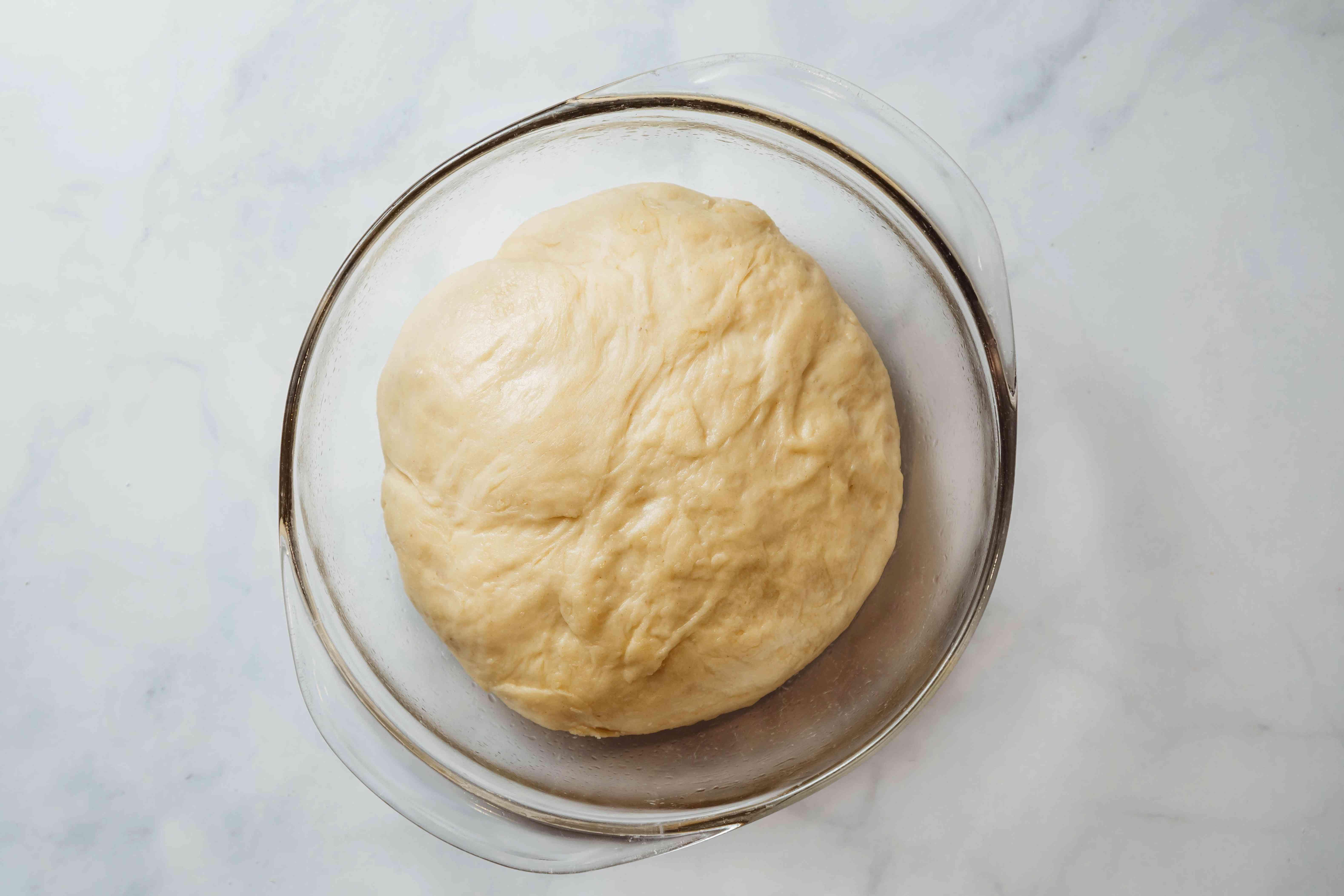 dough rising in a bowl
