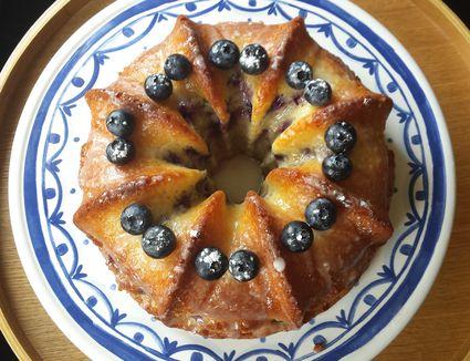 Lemon-Blueberry Quark Cake