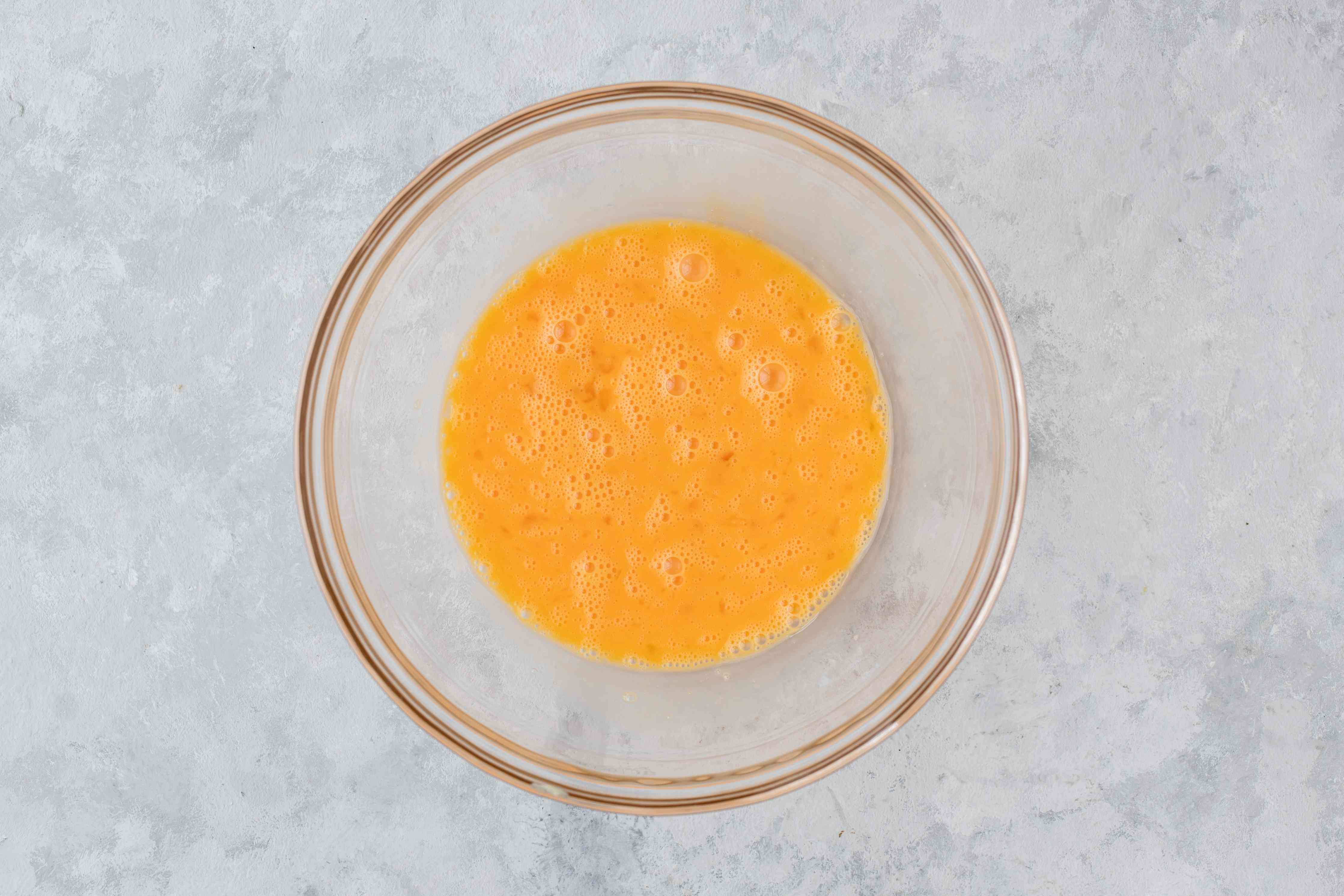 Beat eggs