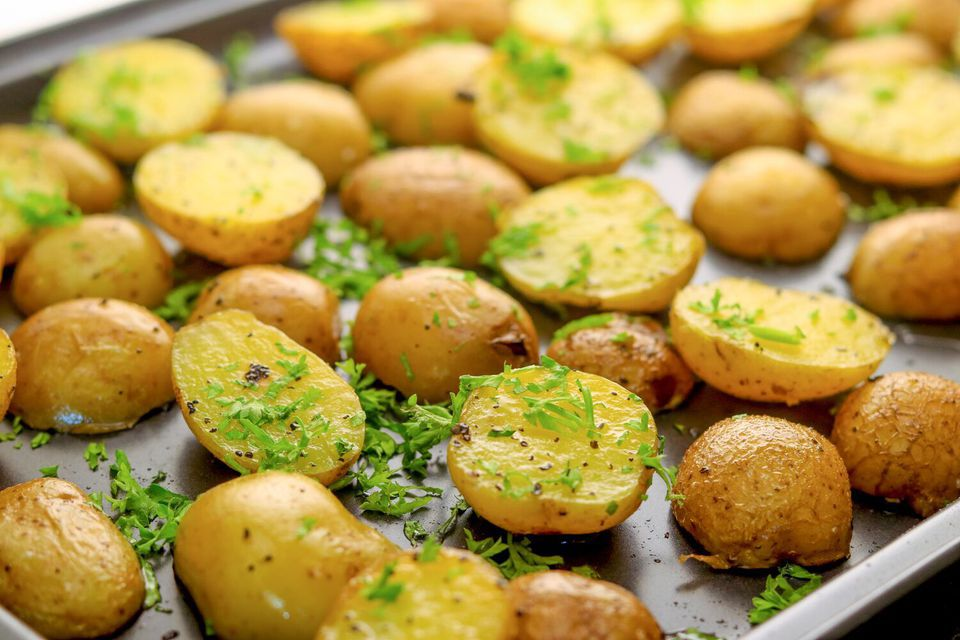 Quick Oven-Roasted Baby Potatoes