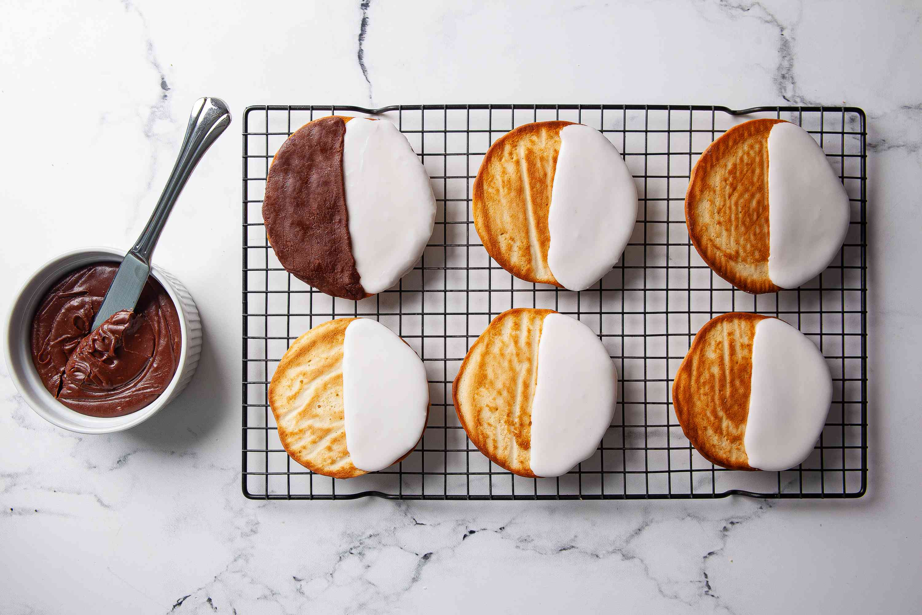 Decorate the Black and White Cookies