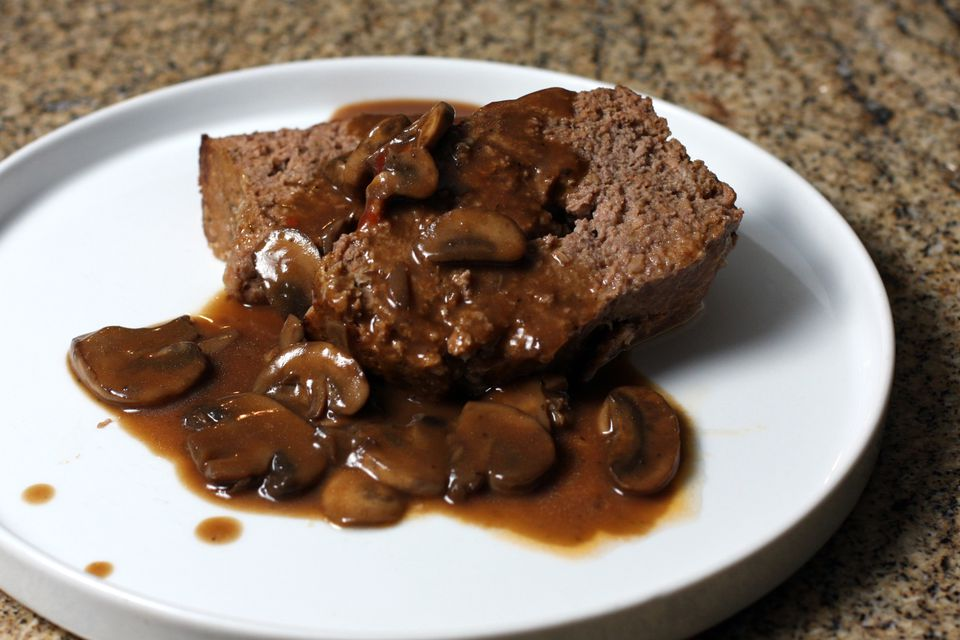 meatloaf with mushroom gravy