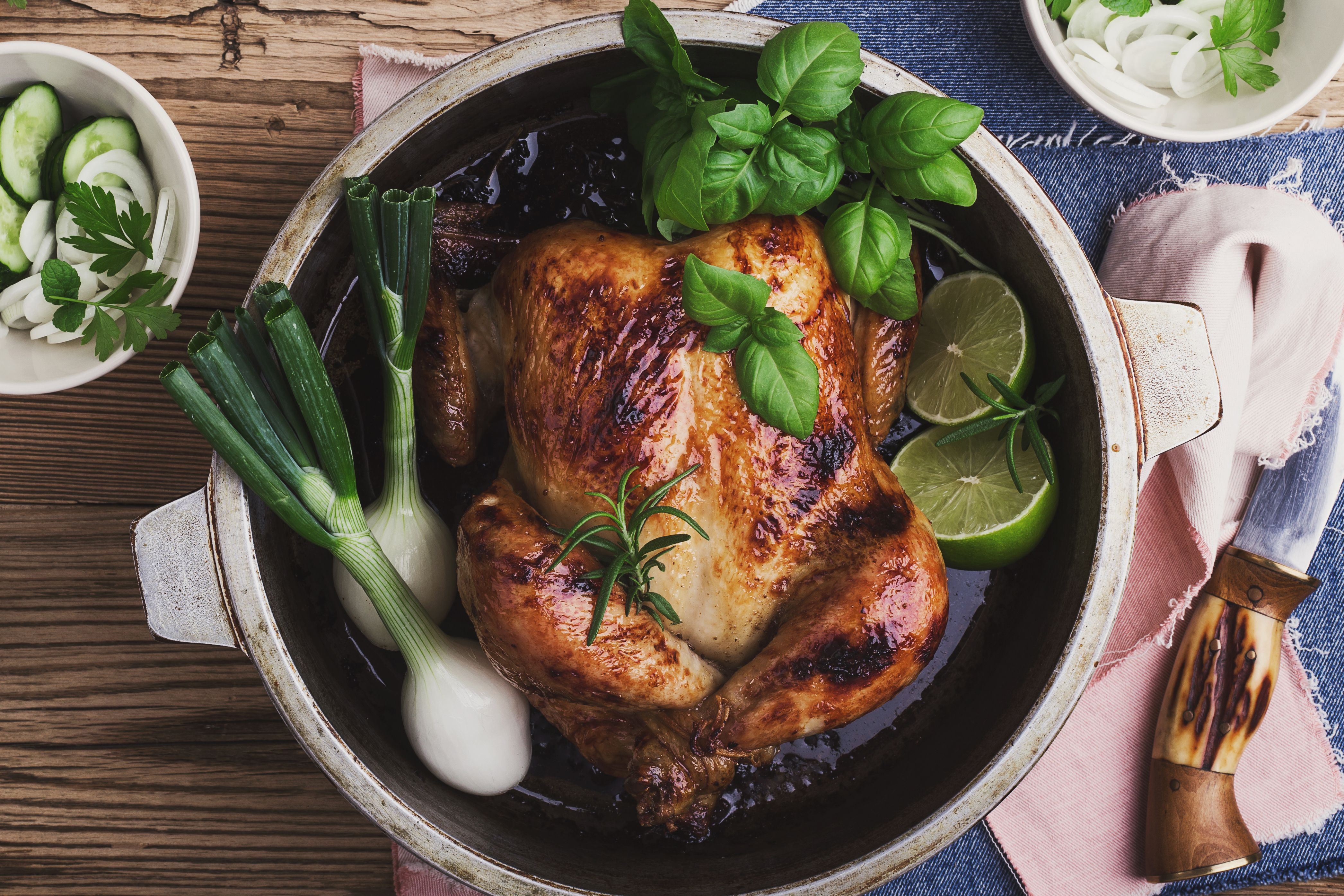 Chicken with limes.