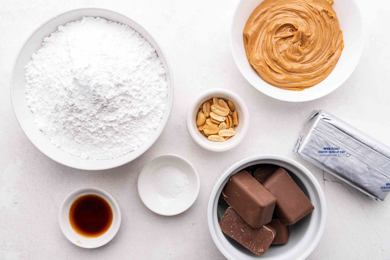 Cream Cheese Peanut Butter Balls Recipe ingredients