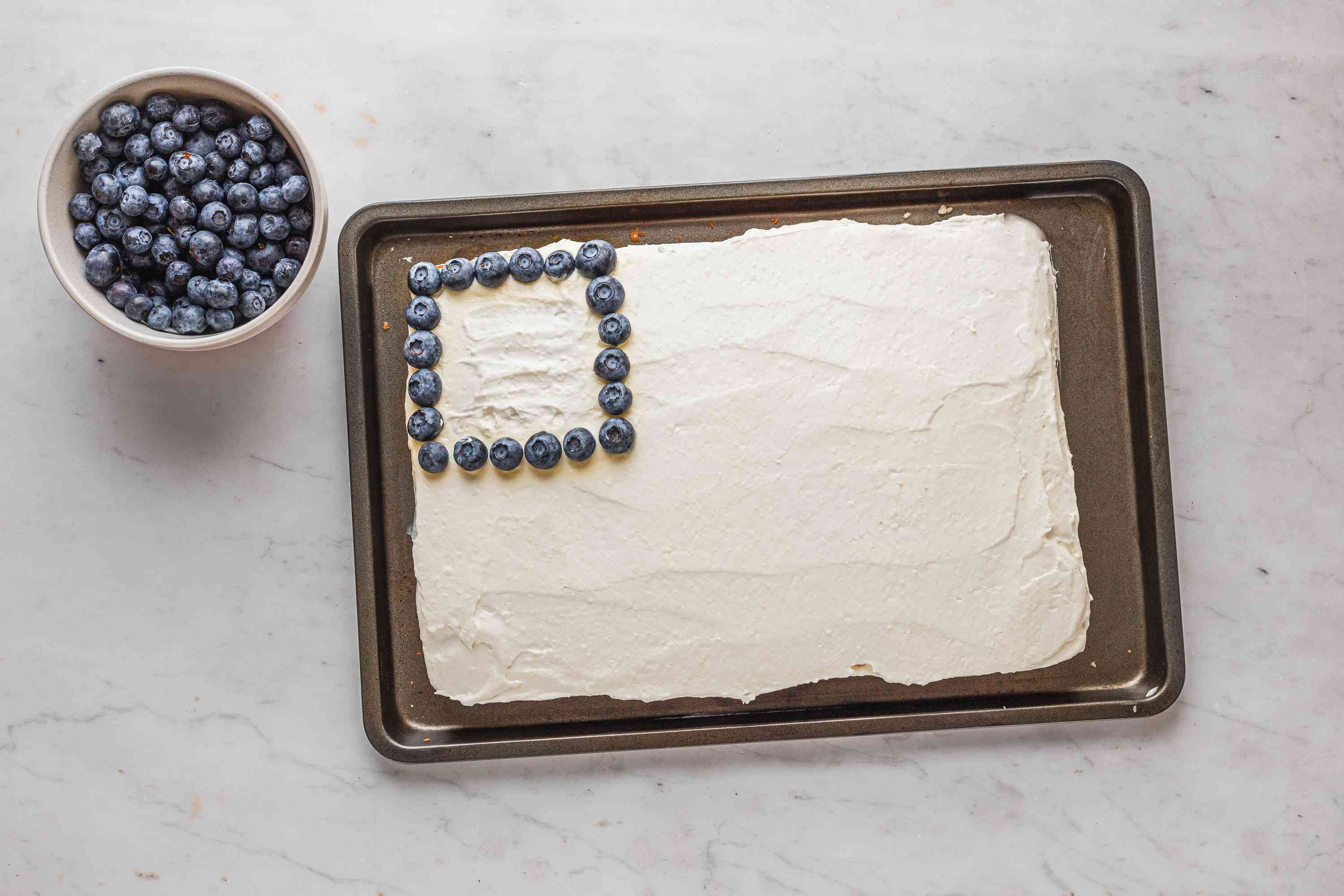 Blueberries on the cake