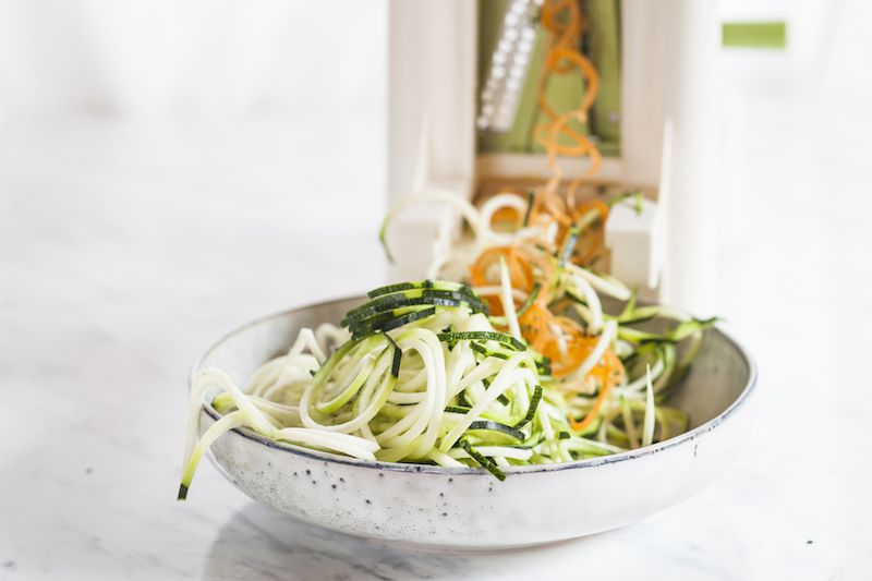 Spiralizer with veggie noodles