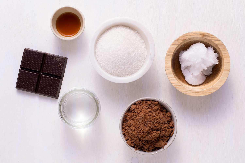 Dairy-Free Chocolate Glaze ingredients