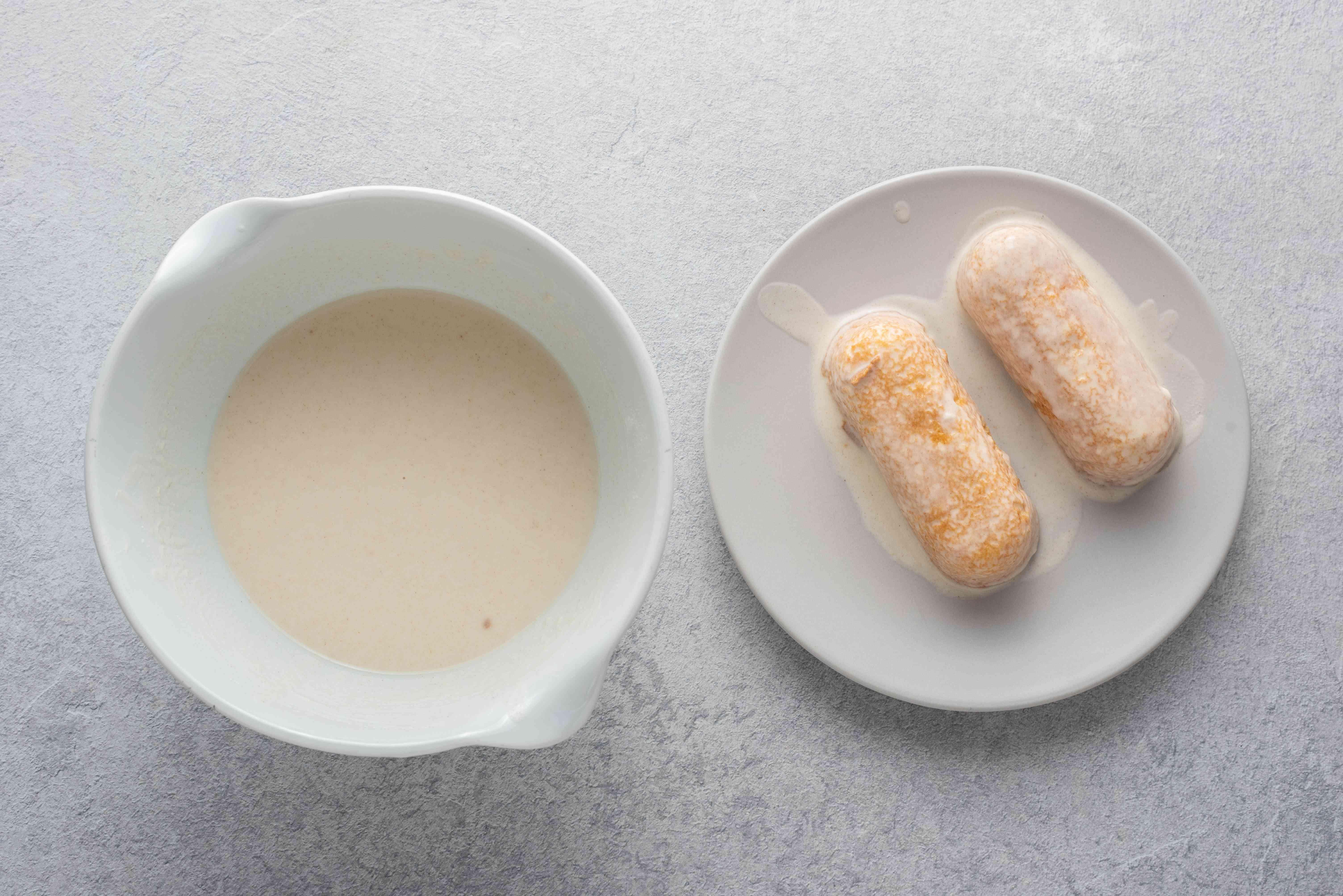 frozen Twinkies dipped in batter