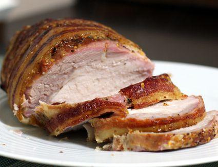 Honey-bourbon glazed pork loin