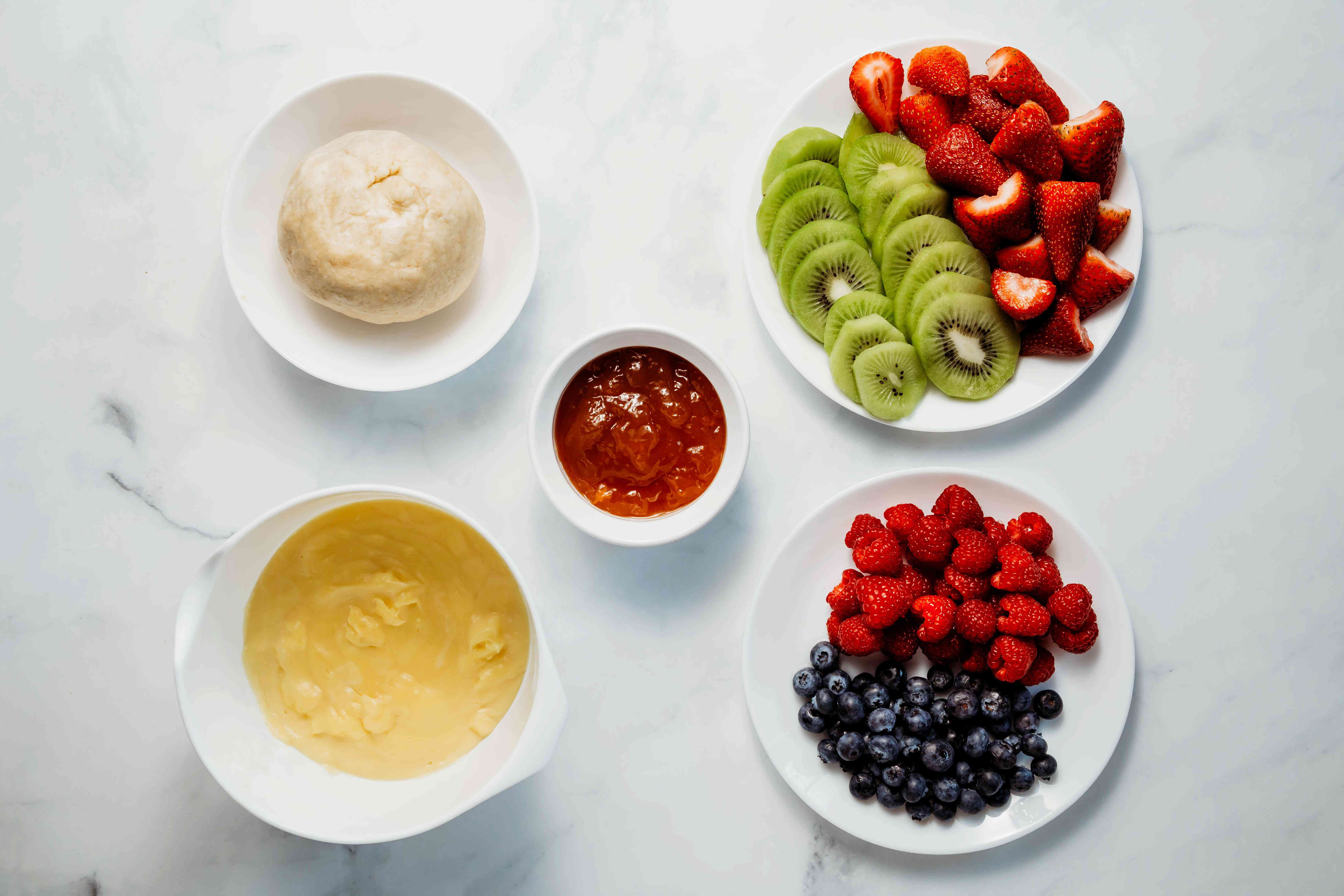 Fruit Tart With Pastry Cream Filling ingredients
