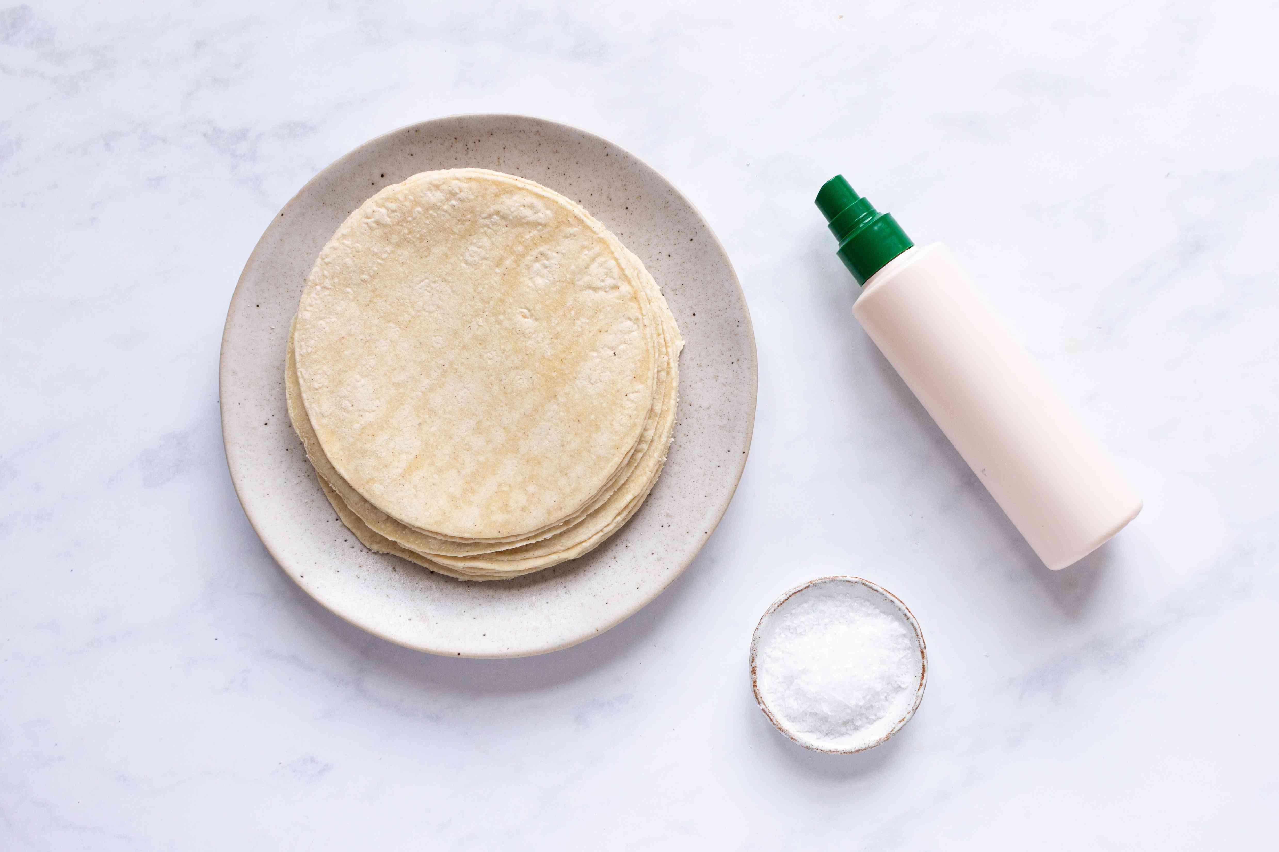 Baked Totopos ingredients