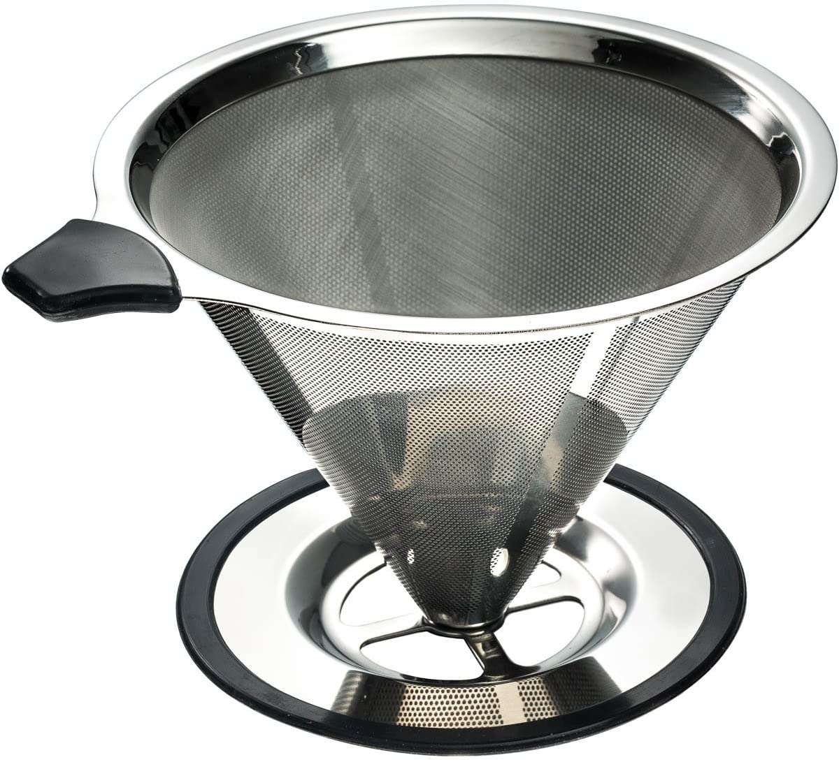 Yitelle Stainless Steel Pour Over Coffee Cone Dripper