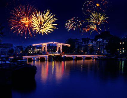 Fireworks in Amsterdam, Holland