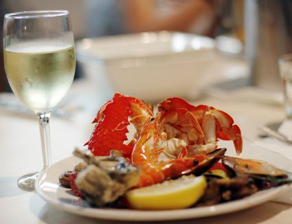 Lobster with white wine