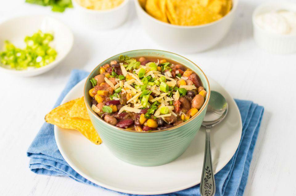 Vegetarian Taco Crockpot Soup