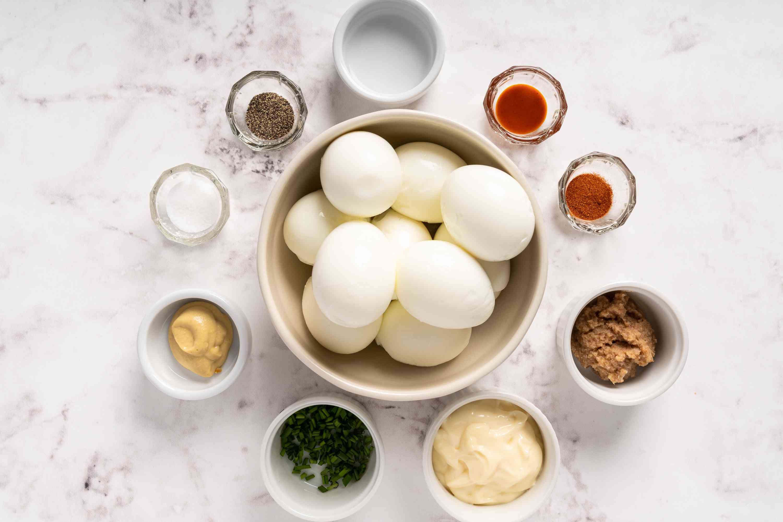 Horseradish Deviled Eggs ingredients
