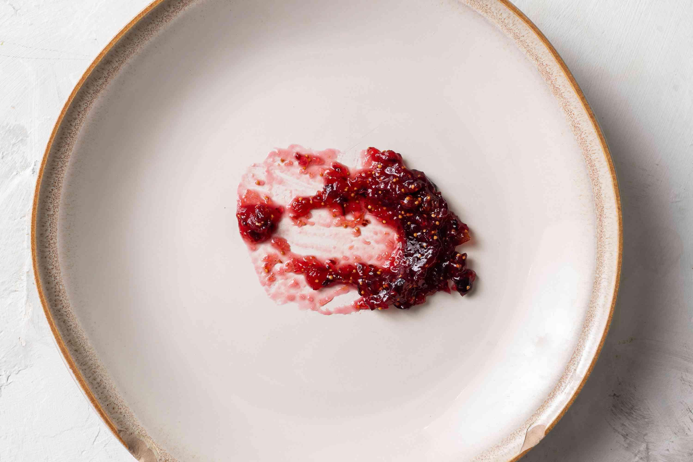 jam on a plate