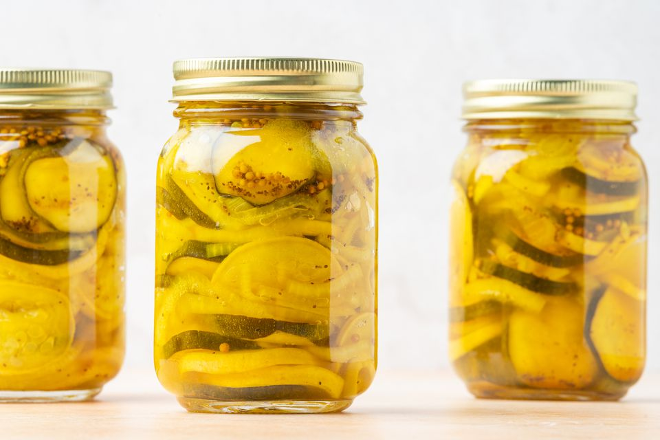 Squash Pickles With Zucchini or Yellow Summer Squash
