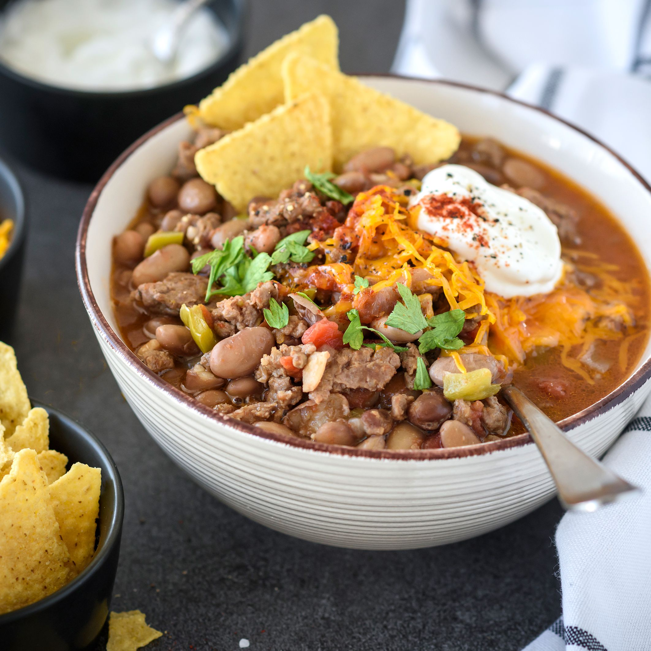 Slow Cooker Pinto Bean Chili With Ground Beef Recipe