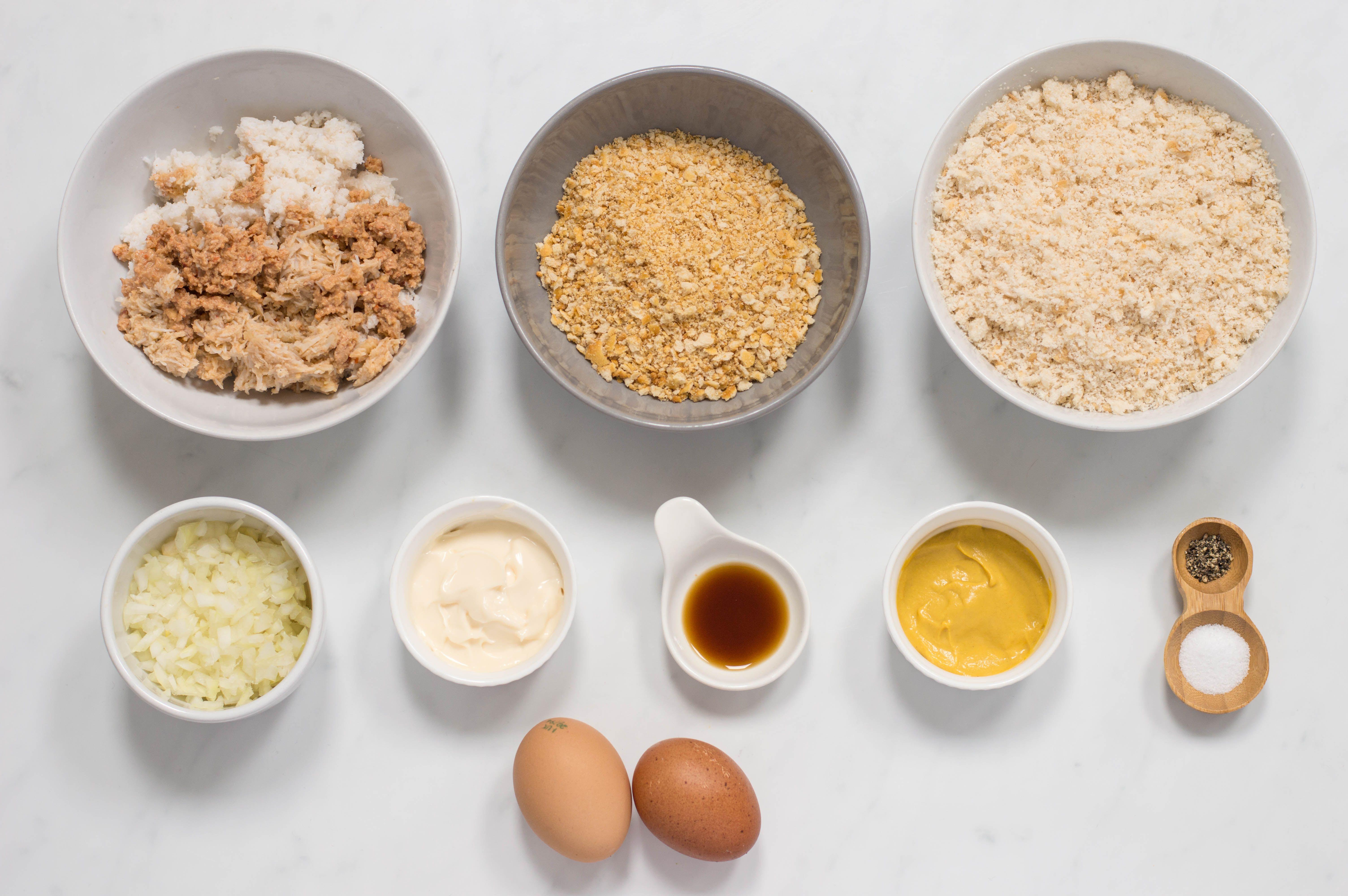 Ingredients for crab balls