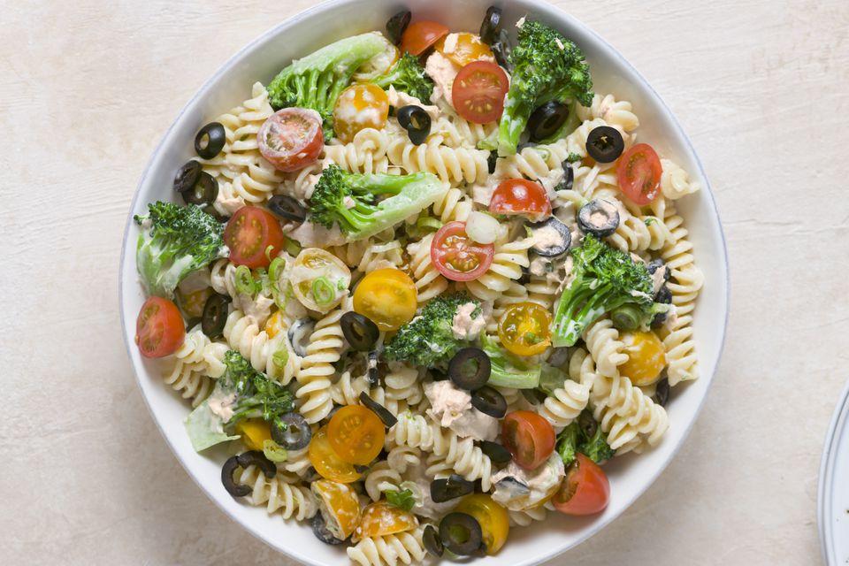 Tuna and Veggie Pasta Salad (Parve)