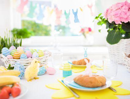 Easter brunch table set