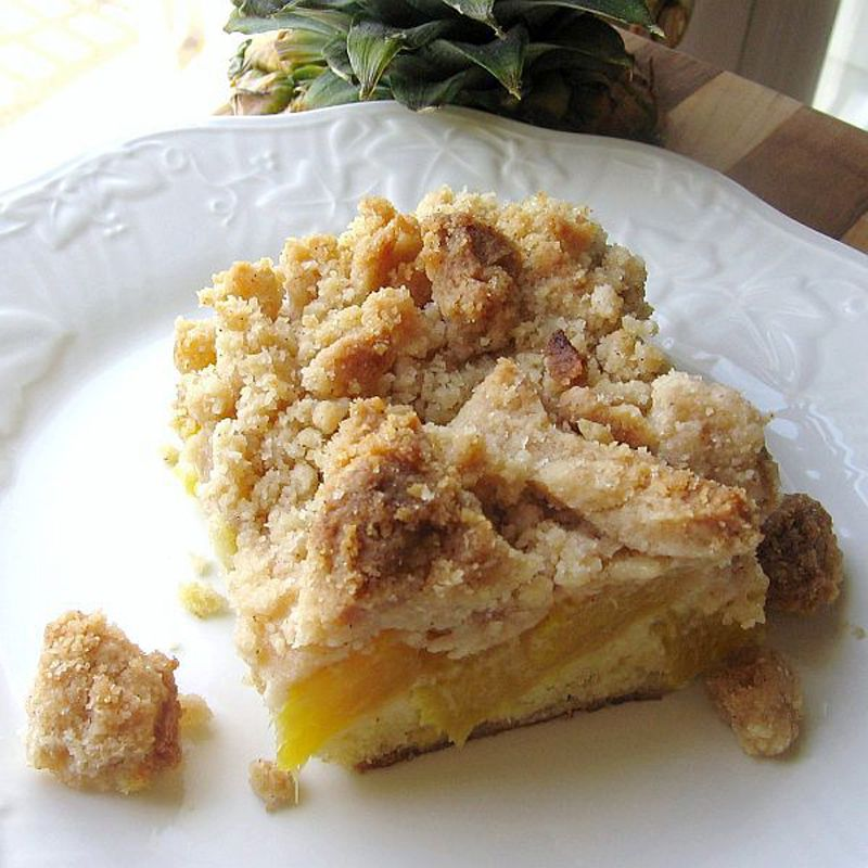 Fresh Pineapple Coffee Cake