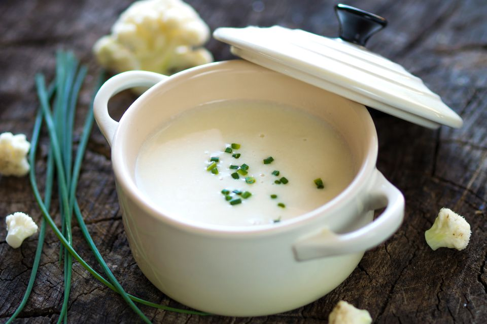 cauliflower soup with chives