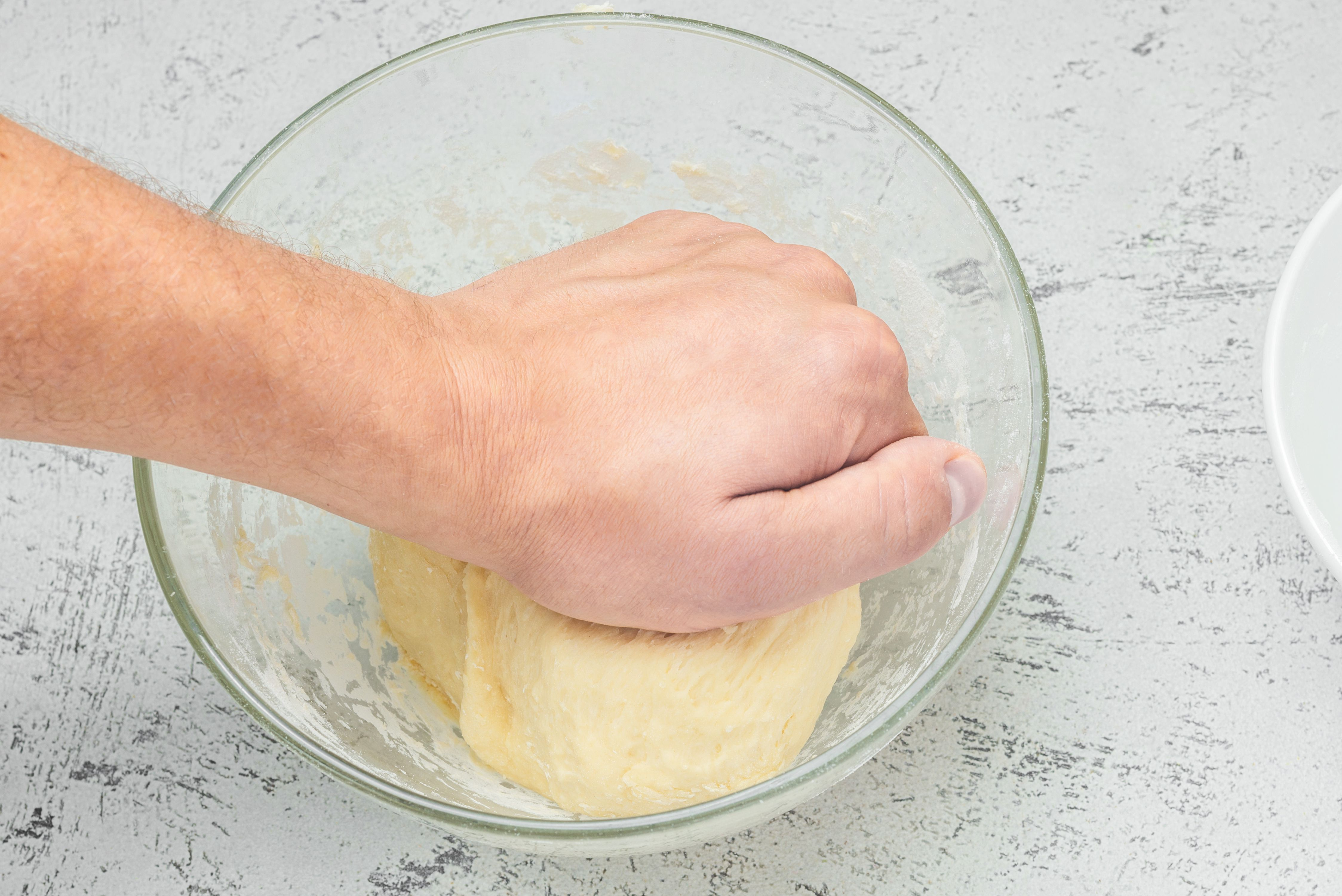 Knead pierogi dough