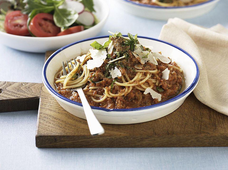 La mejor receta boloñesa de espagueti