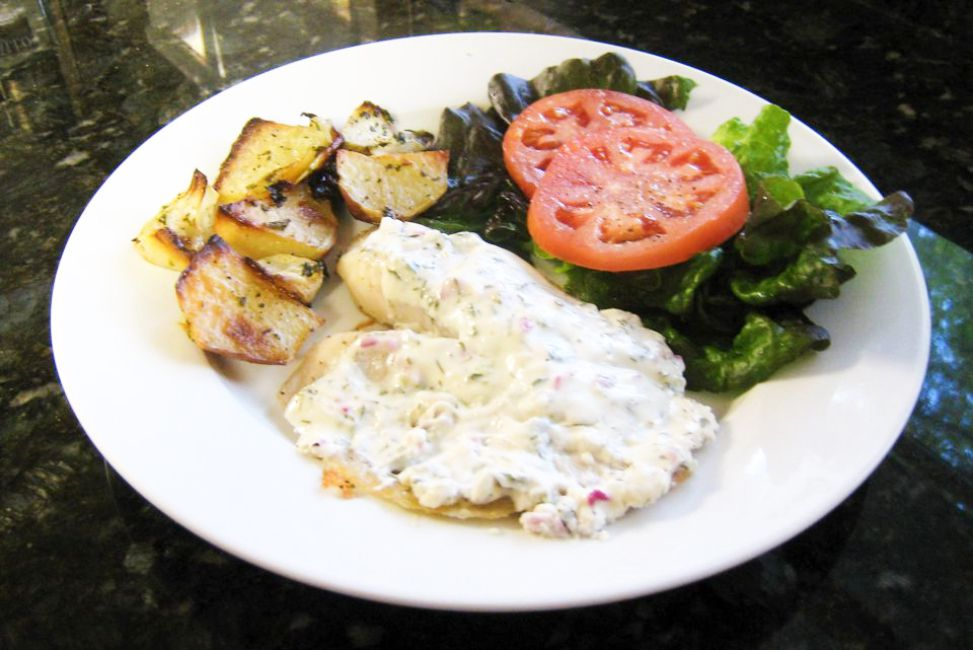 Tilapia With Dill and Sour Cream