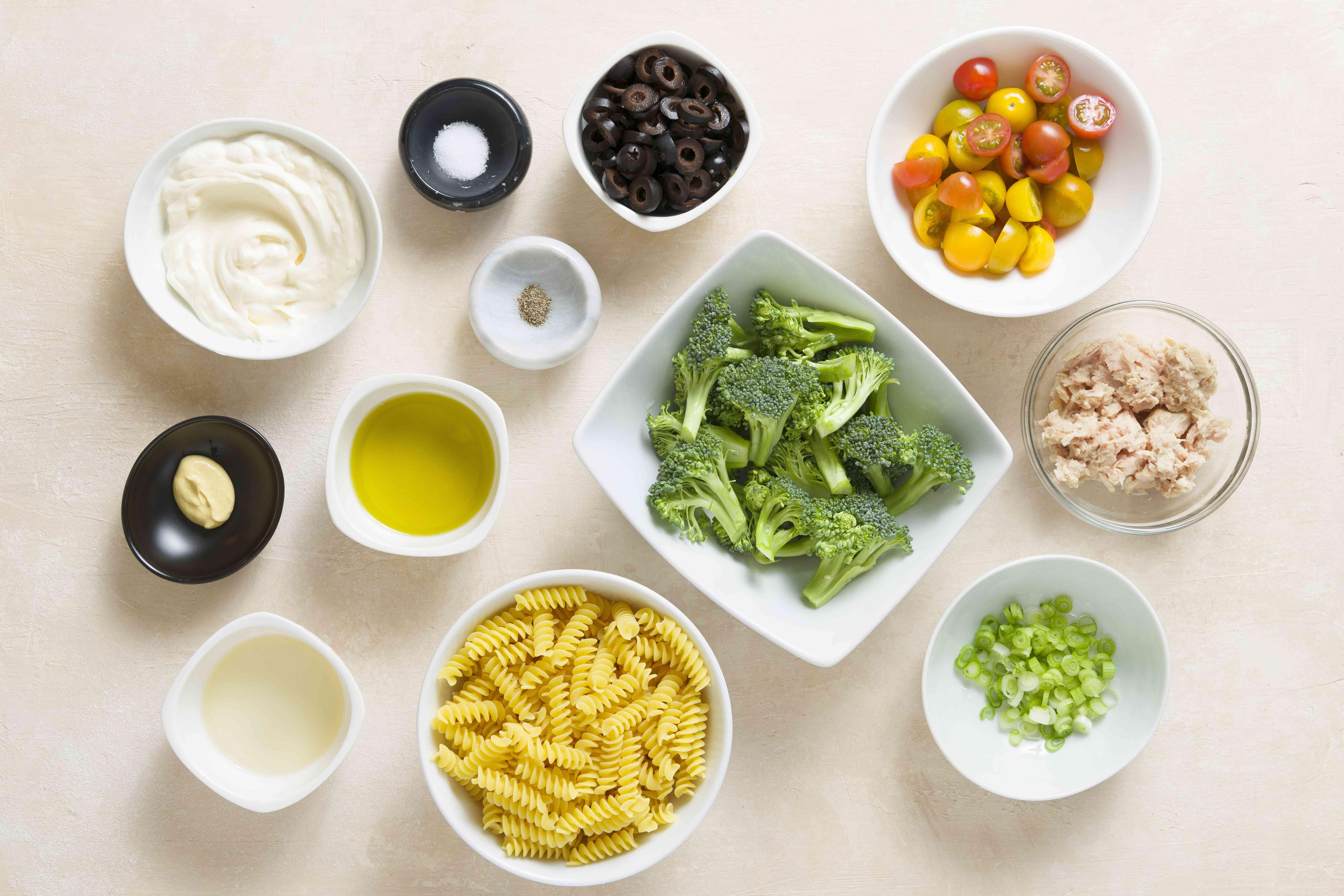 Tuna and Veggie Pasta Salad (Parve) ingredients