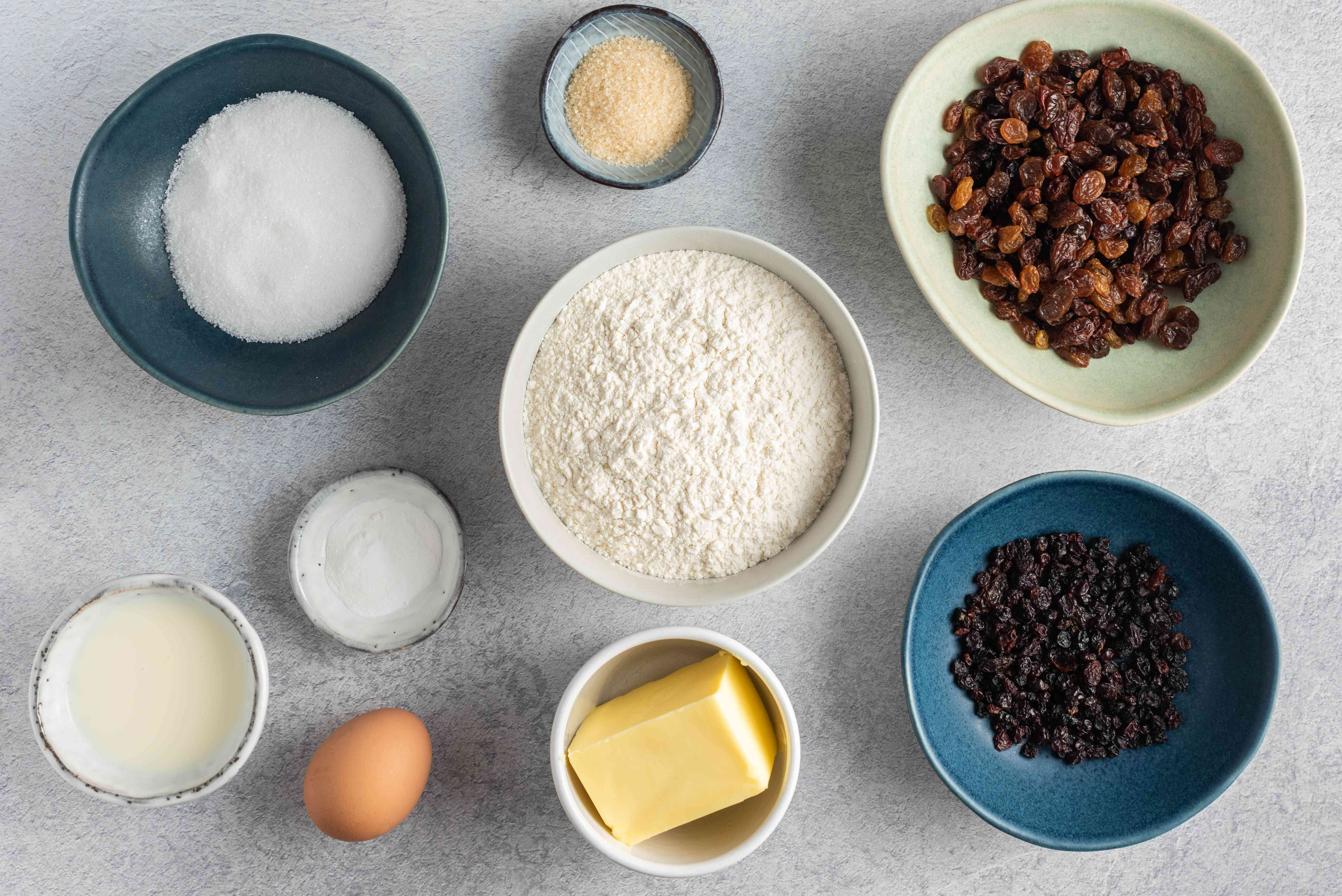 Ingredients for rock cake