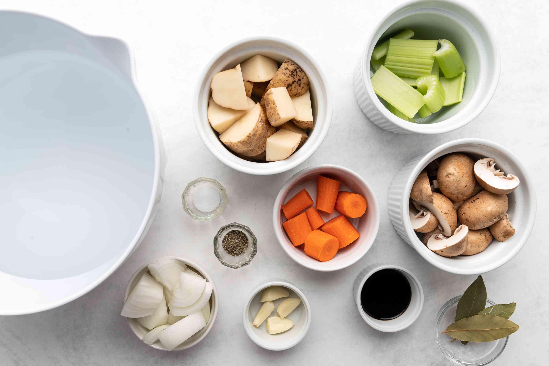 Basic Vegetable Broth ingredients