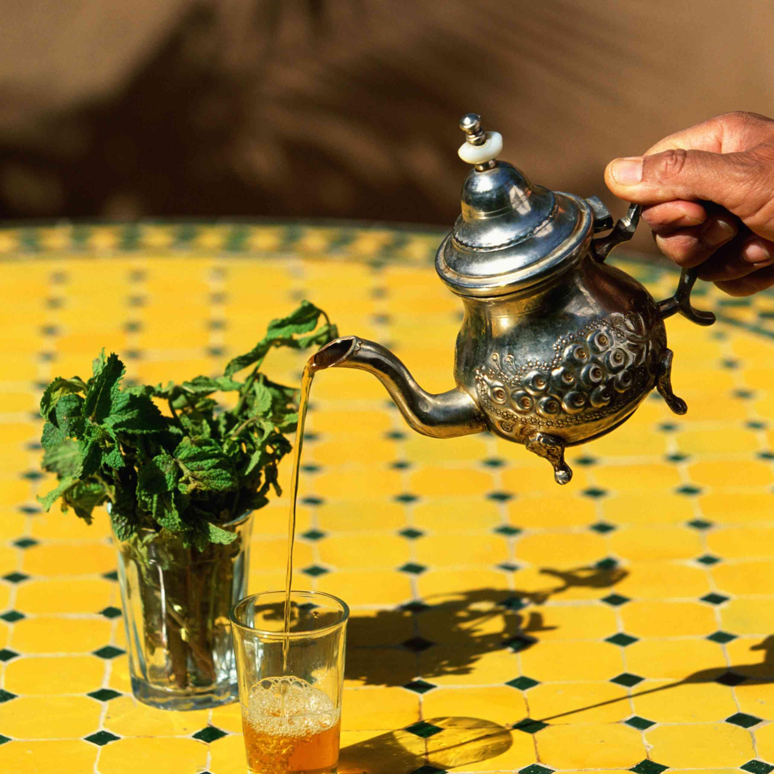 Pouring Moroccan Tea