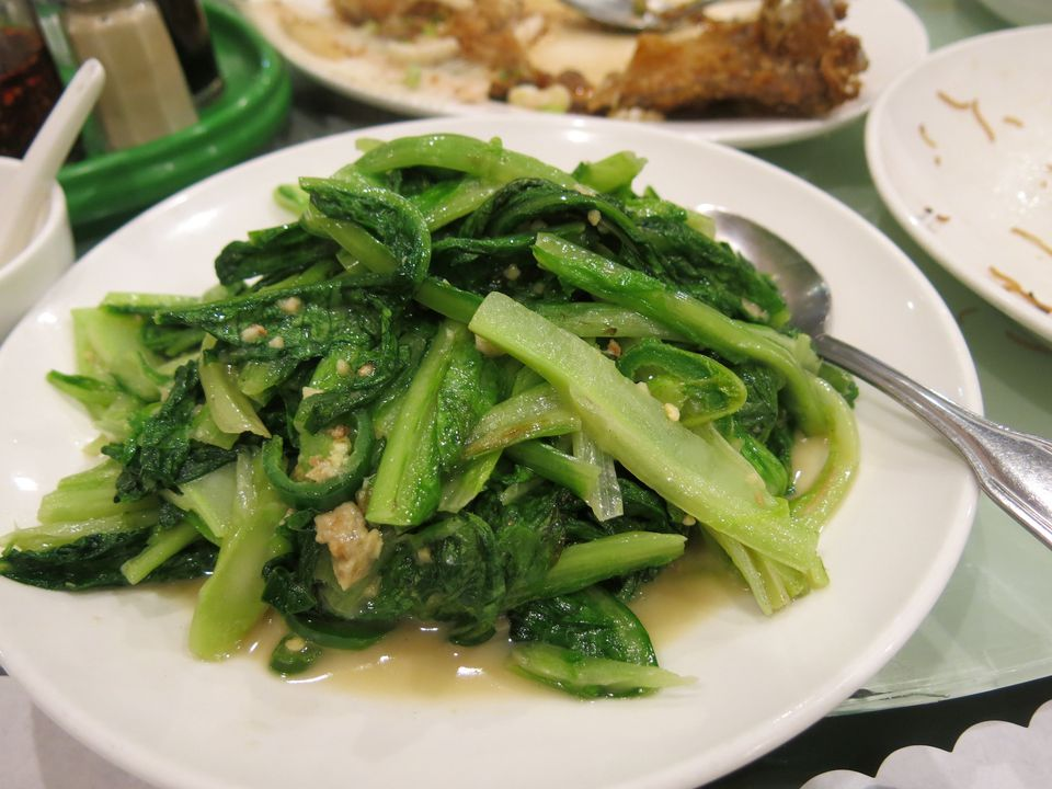 A plate of escarole