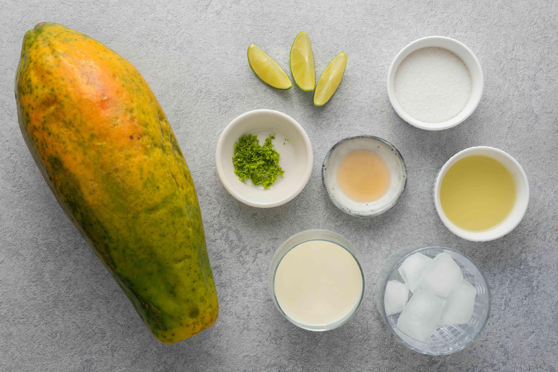 Papaya Smoothie (Batida de Lechosa) ingredients