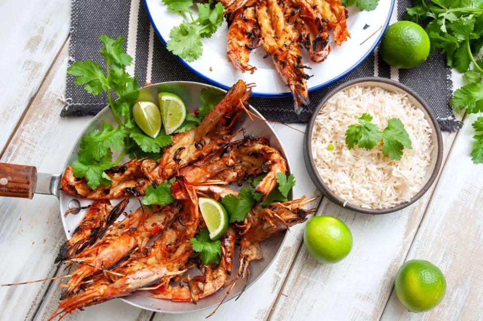 BBQ Thai Garlic Shrimp in the Shell