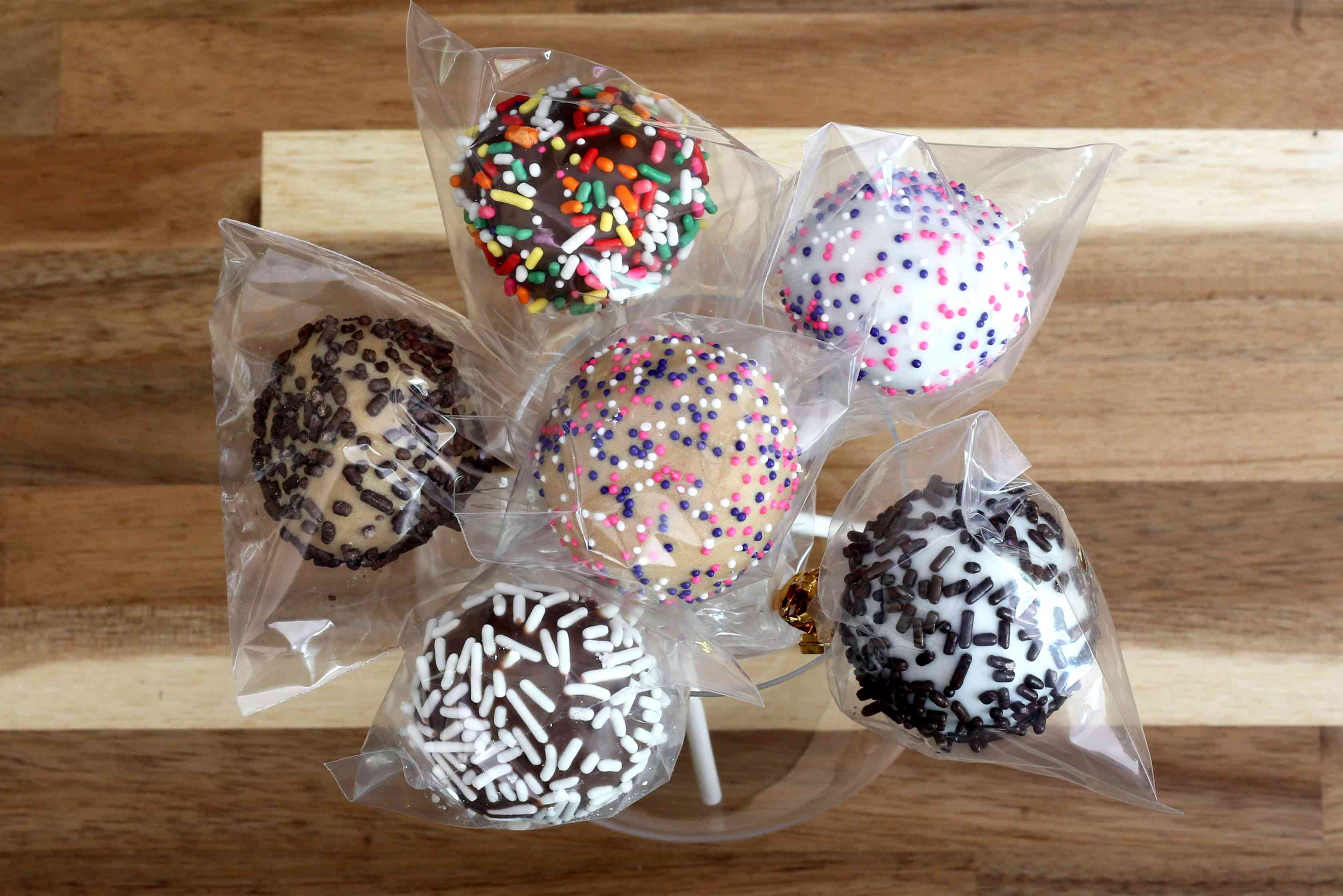 cookie dough pops decorated