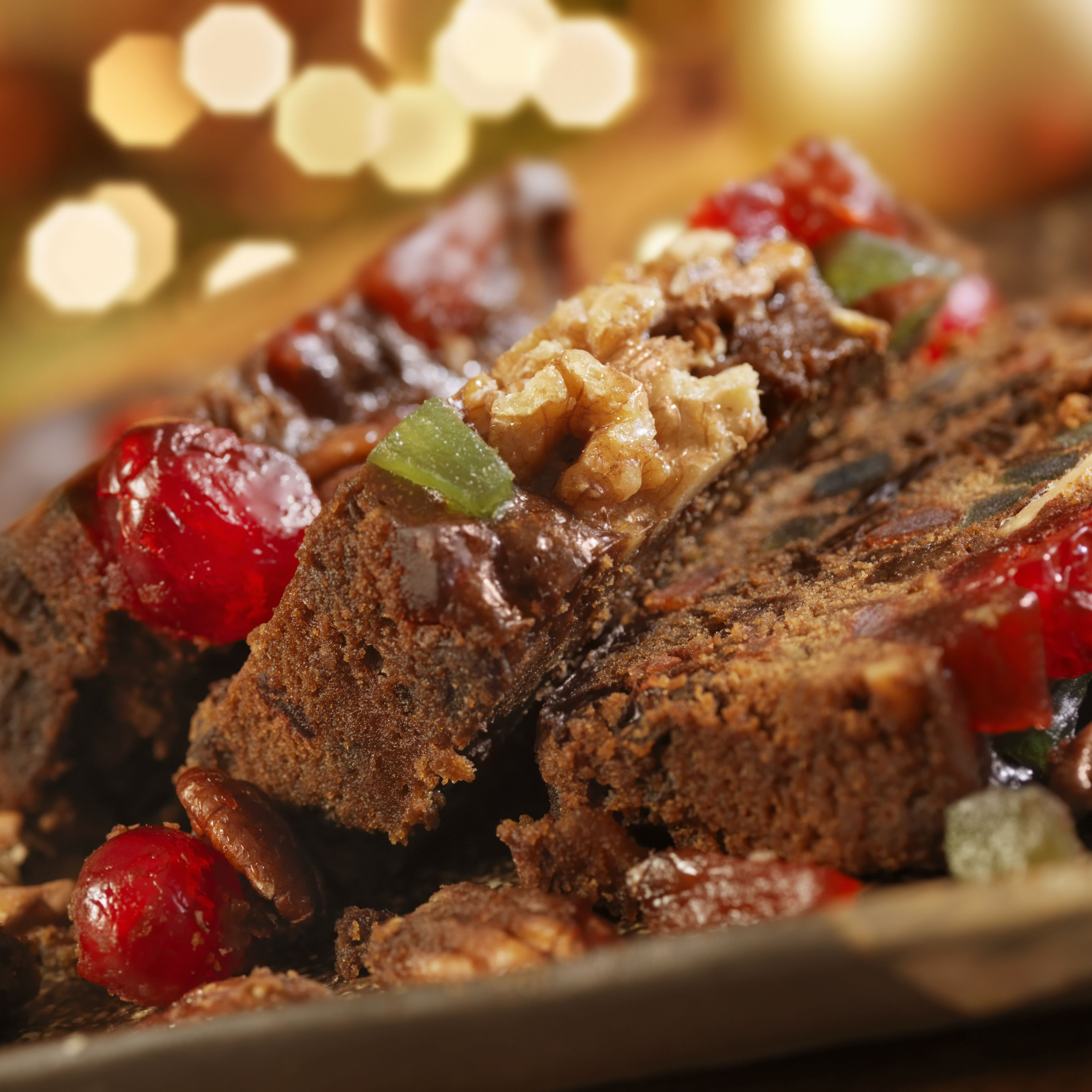 Christmas Fruit Cake.Spiced Fruitcake With Brandy