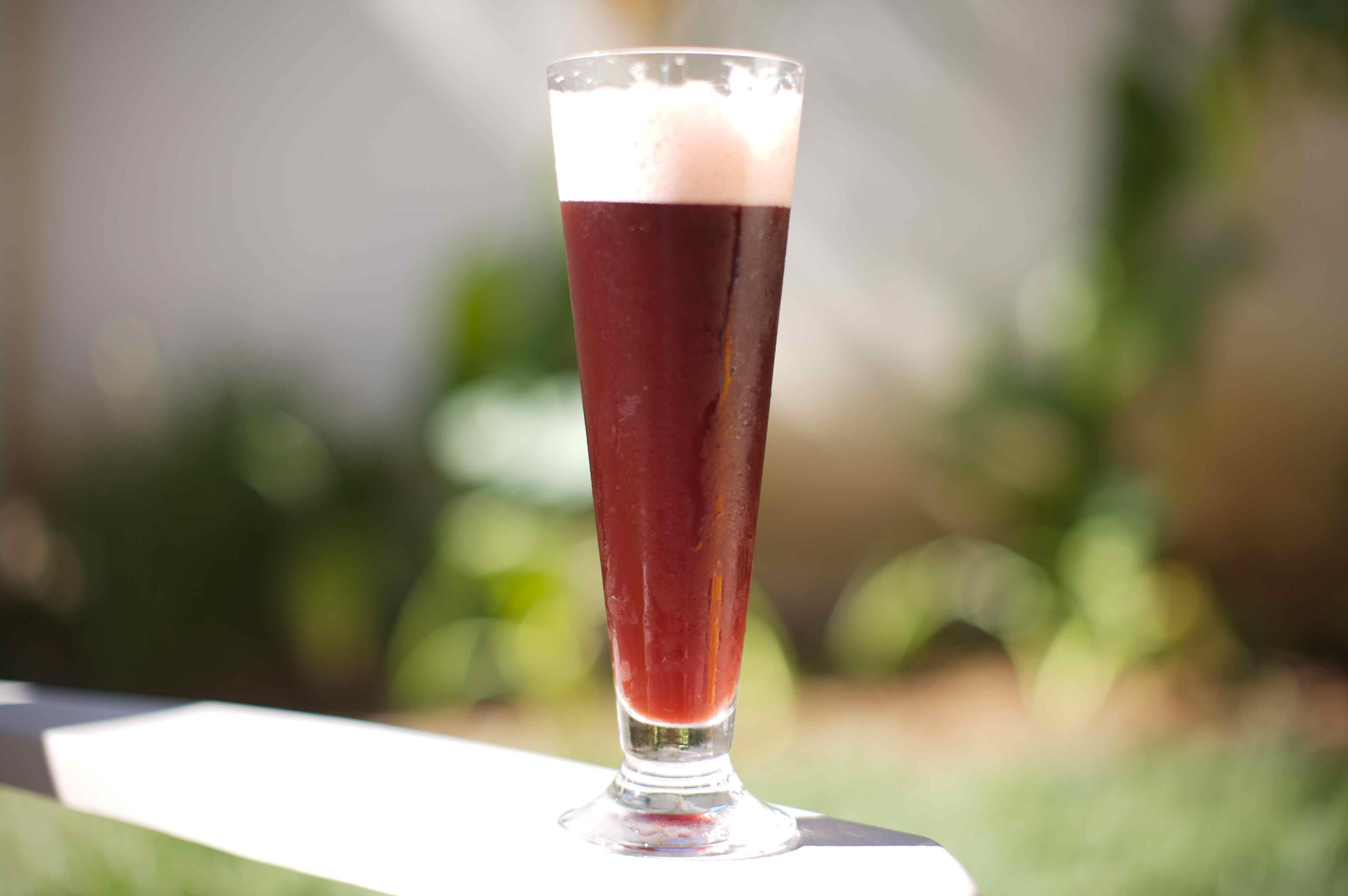 Raspberry Snakebite - Vanilla Porter, Hard Cider, and Fresh Raspberry Beertail