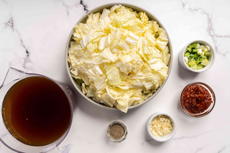 Korean Cabbage Soup (Baechu Guk) ingredients