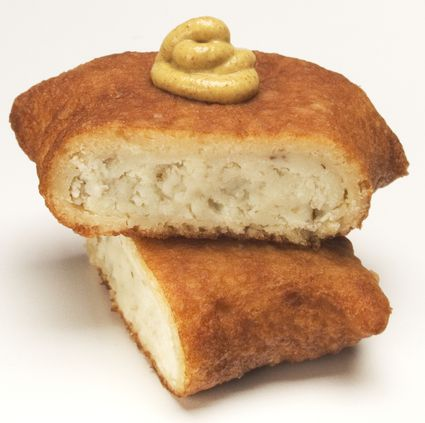Knish with Mustard