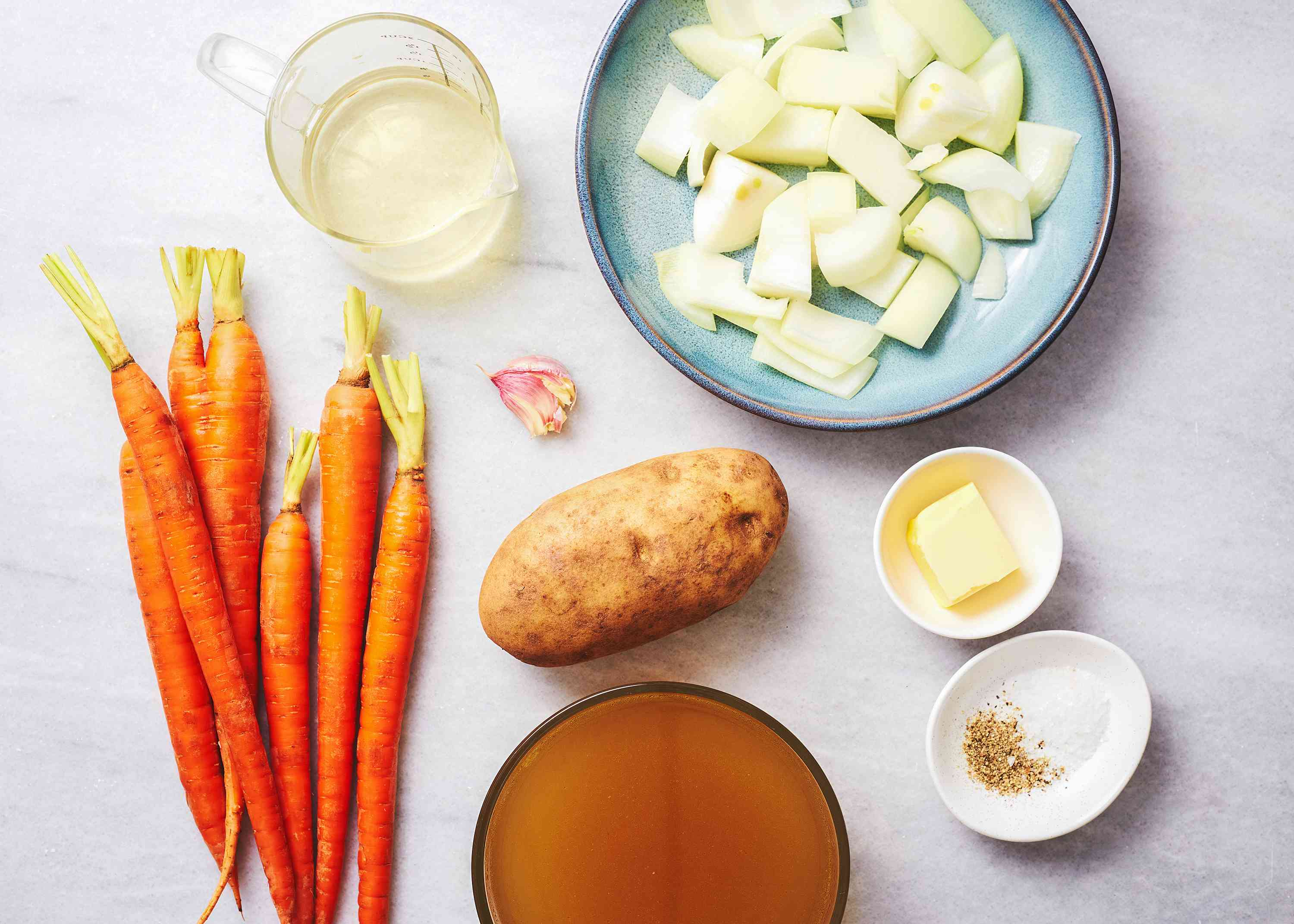 Purée of Carrot Soup ingredients