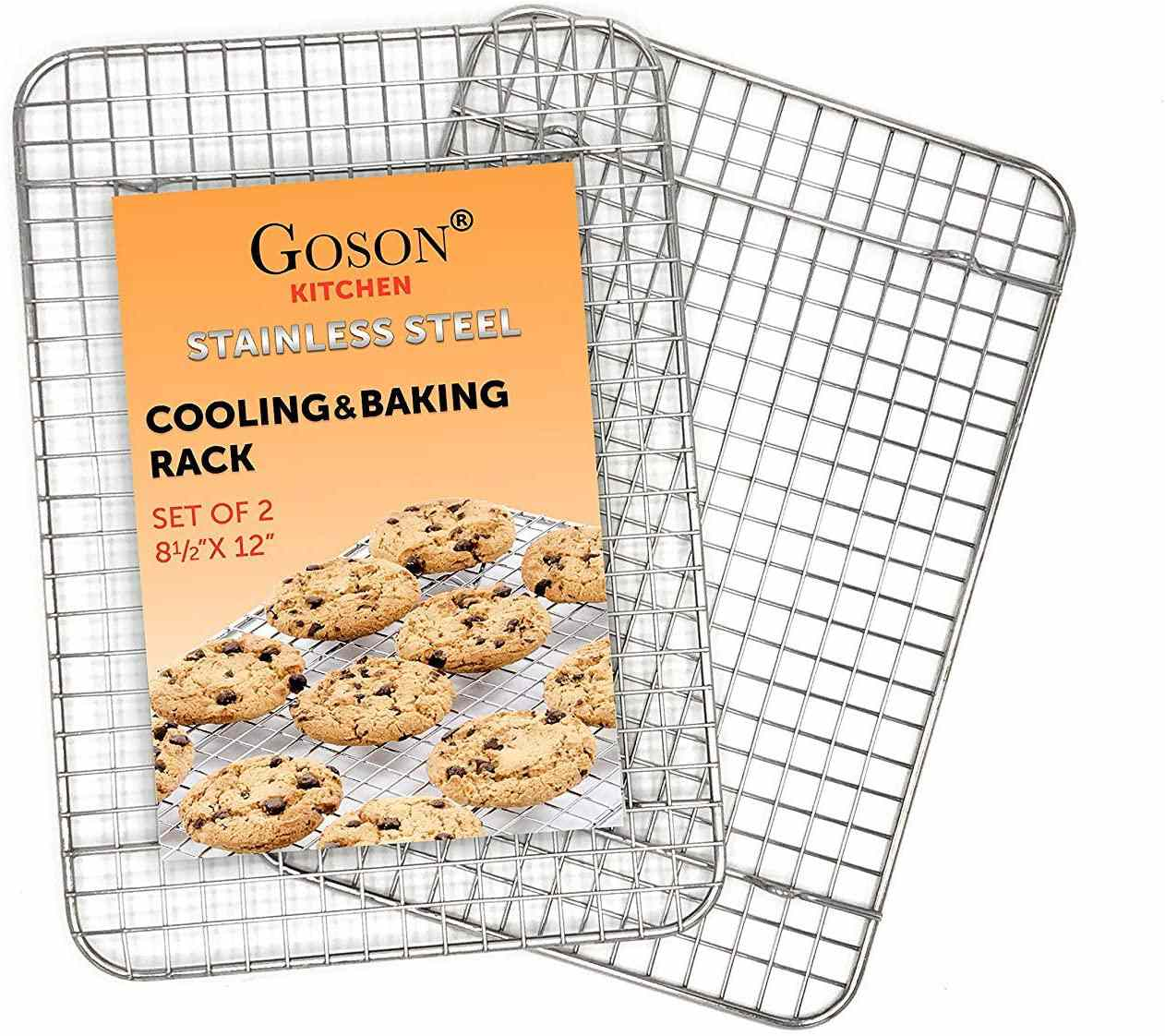 Goson Kitchen Stainless Steel Cooling and Baking Rack, Set of 2