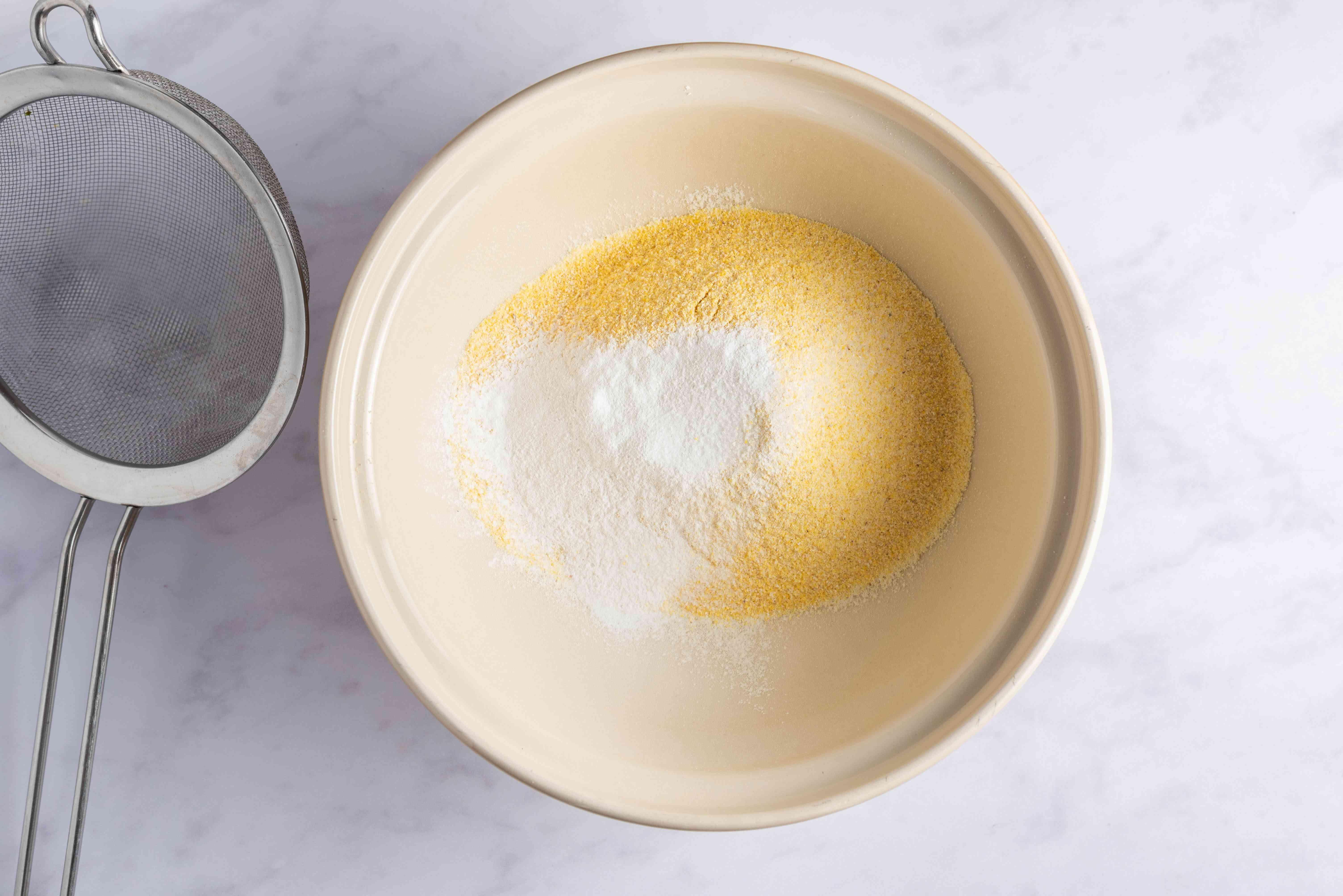 Sift flour