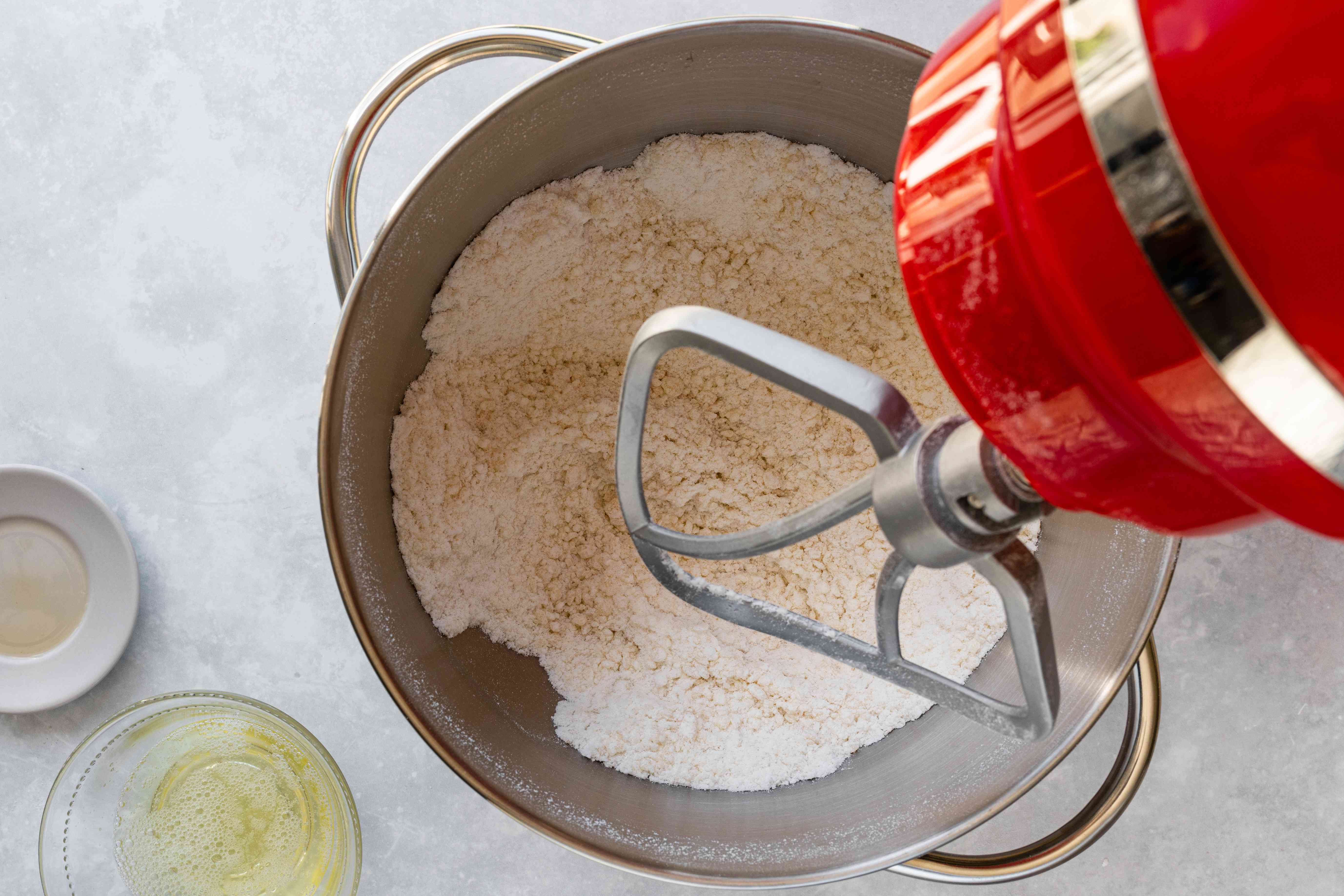 Pulse almond paste and sugar mixture