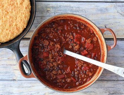 30 Minute Chili with Cornbread